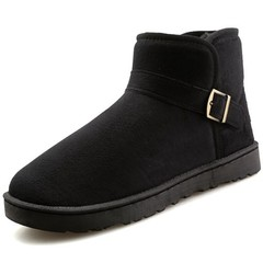 Big Size Fashion Sneakers Winter Warm Men Boots Shoes Black Footwear Male Casual Snow Shoes Rubbe