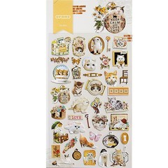 Creative Hand Book Stickers Stationery Transparent Cute DIY Album Stickers Cartoon Painting Mobil