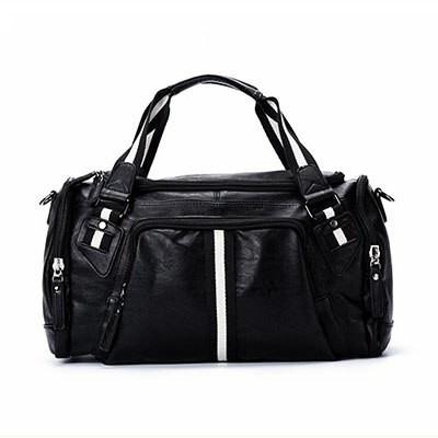 Item specifics  Seller SKU DvuNEJIm  Brand  . PU Sports Bag for Fitness  Female Male Comfortable Leather Gym Bag Classic Black Bussiness Trip Storage  ... fffe04f5ddad5