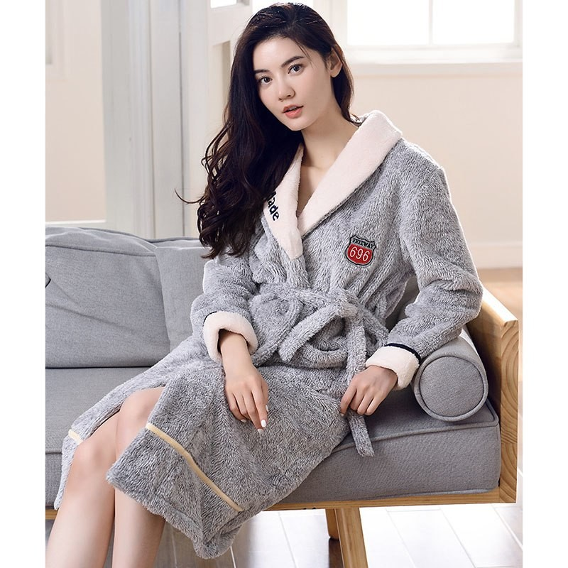 ... Flannel Tie Robe Thick Warm Winter Casual Comfortable Home Service  Pajamas A117  Product No  7359515. Item specifics  Seller SKU wDDhbJqEY9S   Brand  afe294379