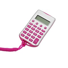Pocket Mini Office 8-bit Calculator With Lanyard Digital Calculator with Strap Office School Stud