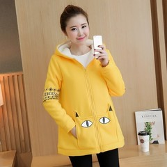 Velvet Warm Sports Hoodie Winter Maternity Jacket Outwear Sweatshirts Clothes for Pregnant Warm C