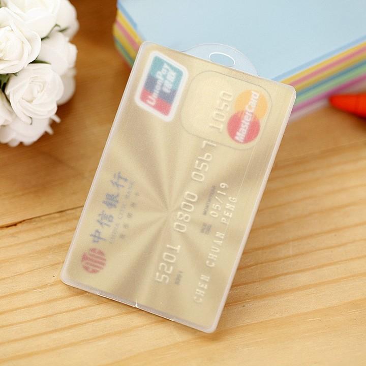 Fasion Waterproof  PVC Card Holder Credit Student Transparent ID Cards Passport Business Bank Car