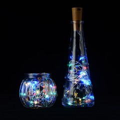 Colorful DIY Bottle String Lights Cork Shaped Bottle Stopper Light Glass For Bar Xmas Party Weddi