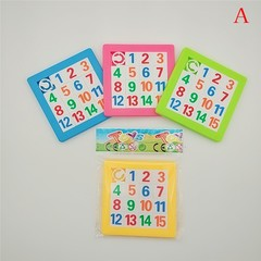 Slide Puzzle Plastic Building Childrens Educational Toys Numbers Alphabets Learning Jigsaw Game T