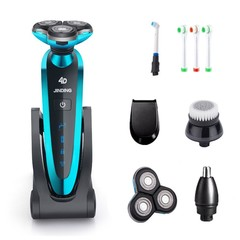 Electric Shaver With 3D Floating Blade Shaving Cordless Triple Blade Beard Trimmer Professional M