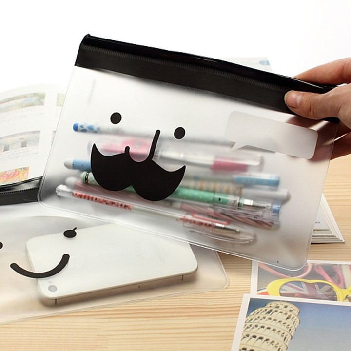 Student Pencil Pen Case Cosmetic Pouch Pocket Brush Holder Makeup Bag home organization and stora