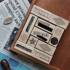 Basic Decoration Series Wood Stamp Scrapbook DIY Photo Album Card Decoration Craft Wooden Rubber