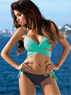 Elf Bandage Bikini Push Up 2018 Women Sexy Bikini Set XXL Plus Size Swimwear Women Retro Summer S