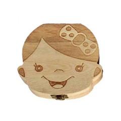 Teeth Wood Storage Teeth Collecting Memory Keepsake Holder Boys Girls Spanish / English / Russian