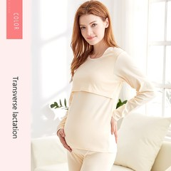 Nightwear Feeding Clothes for Pregnant Women Pajamas Sets Long Sleeve Nursing Nightgown Pregnancy