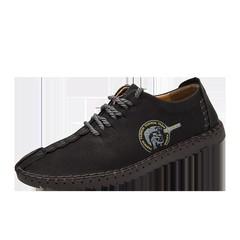 New Comfortable Big Size 38-46 Casual Shoes Loafers Men Shoes Quality Split Leather Shoes Men Fla