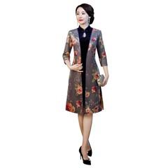 Story Suede Fabric Coat Chinese Traditional Clothing Short qipao Chinese cheongsam dress modern c