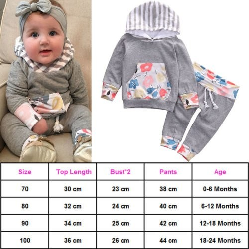 879410d99 NEW Infant Boys Girls Romper Hooded Tops Long Pants Cute Jumpsuit Outfit  Sets