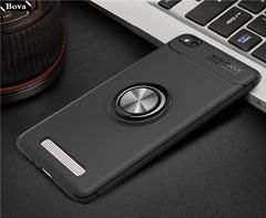 silicone case for Xiaomi Redmi 4A kickstand case finger ring case ultra-thin protective cover pou