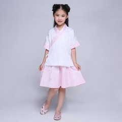 Chinese Ancient School Uniform Kids Hanfu Suit Clothing Traditional Dance Performance Costume Chi
