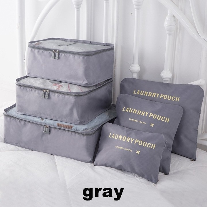 Travel Accessories Packing Organizers Travel Mesh Bag In Bag Luggage Organizer Packing Cube Organ