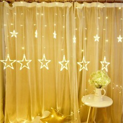 Star Curtain Light Fairy String Hanging Light String Christmas Wedding