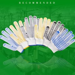 protection plastic gloves cotton yarn rubber wear-resistant gloves non-slip gloves non-slip thick