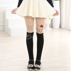 Hot-selling 12 Styles Children Baby Kids Girls Cute Pantyhose Knee Lovely Tattoo Tights Pantyhose
