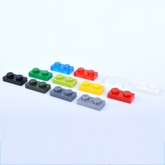 Plate 1x2 Bricks DIY Enlighten MOC Plastic Building Block Bricks Toys For Kids Compatible With Le