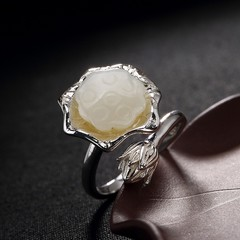 silver S925 Sterling Silver and Tadama Keitaeai mosaic lotus flower female high-end open silver r see chart