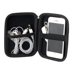 Storage USB Hard Drive Disk HDD Carry Case Cover Cable  Multifunction Earphone Pouch Bag For PC L