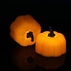 Led Pumpkin Lantern Classic Halloween Electronic Orange Light Jack-O-Lanterns Candles All Saints