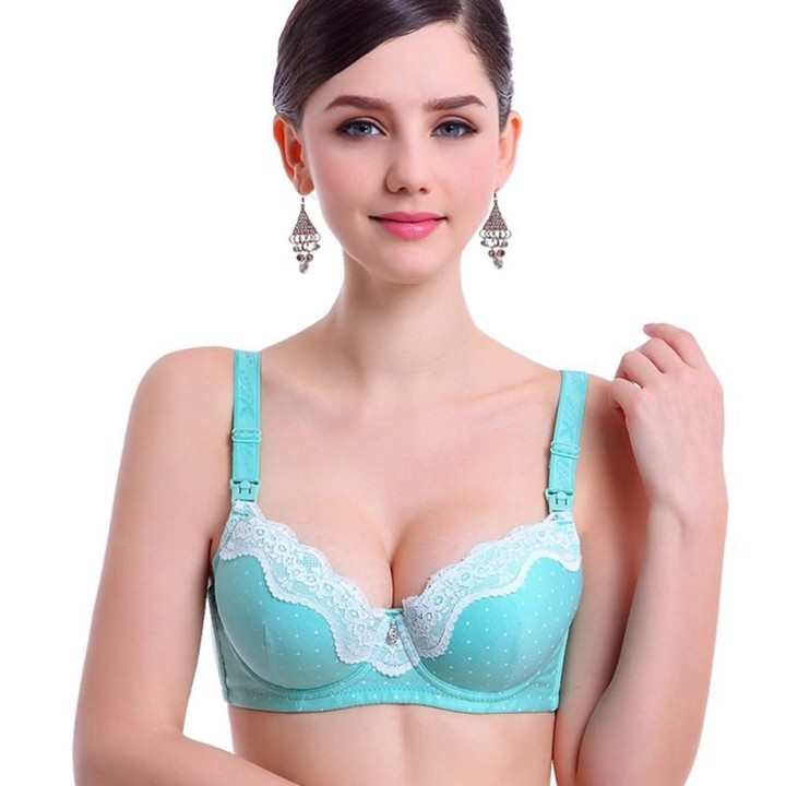 bf7508ef13c96 Nursing Bra Pregnancy Maternity clothes Mother Open Up Bra Lace Material breast  feeding bra