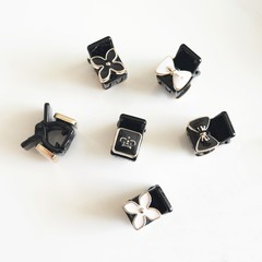 2018 New Mini Black Plastic Small Girls Kids Hair Clips Claws Clamps Hair Clip For Women Girls