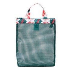storage bag mesh swimming beach  bag female shopping Bag flower environmental protection Outdoor