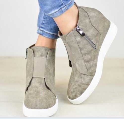 New Autumn Winter Women Boots Suede Female Side Zipper Martin Boots Vintage Fashion Ankle Boots u