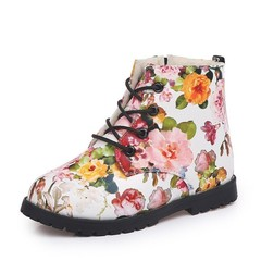 Martin Boots the New 2018 Children Boots and Velvet Flower Boy Baby Shoes Girls Shoes Waterproof