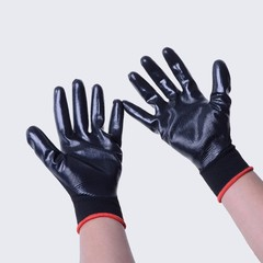 proof 13 pin nylon wear resistant anti cut industrial nitrile dipped protective gloves labor insu