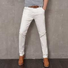 Stretch Men White Jeans Business Casual Black Jeans Trousers 28-36 Size High Quality Male Pants