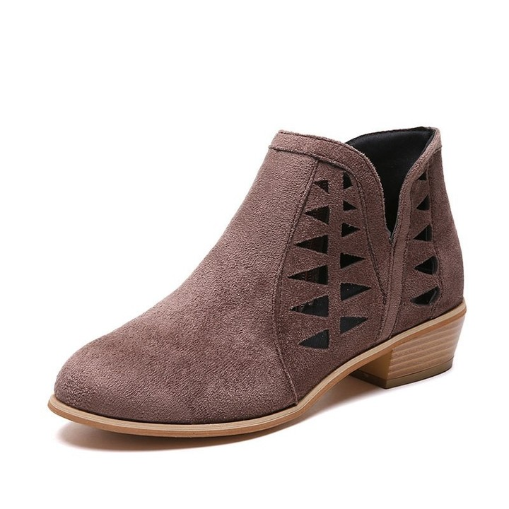 Ankle Boots Zipper Breathable Suede Chelsea Boots Fashion Ladies Shoes 2018 Autumn Spring Boots F