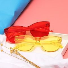 Malus]New Fashion Cat Eye Frame Sunglasses Women Mens Female Sexy Ladies UV400 Blue Pink Lens Mir
