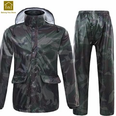 Women Raincoat With Hood Men Rain Suit Pants Camping Poncho Militar Rain Coat Waterproof Chubasqu