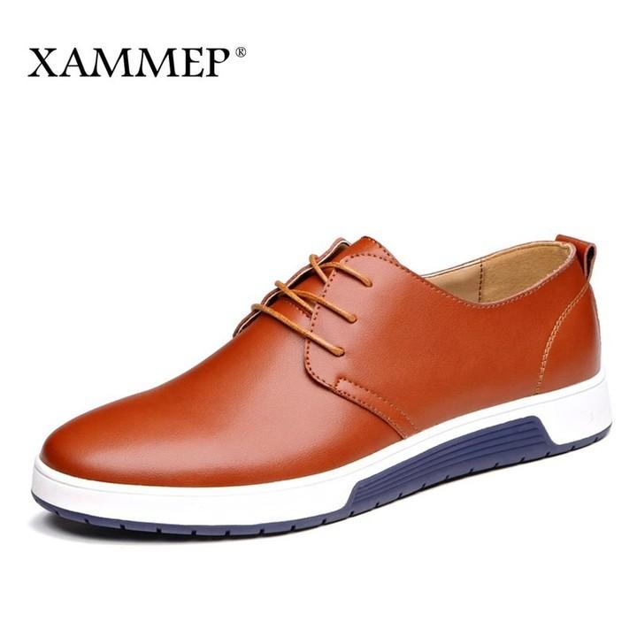 4d79bc2a01 Casual Shoes Brand Men leather Shoes Men Sneakers Spring Autumn Plus Big  Size Genuine Split Leath