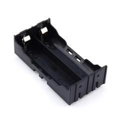 Hot sell Vbatty battery storage box Plastic 2slots 18650 battery holder Box Battery Holder with P