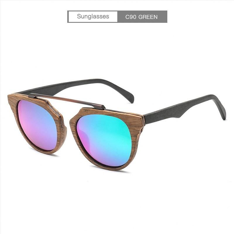ec2512f1f3dc5 Item specifics  Seller SKU TXOImoOylHx  Brand  Item Name AZB Wood Grain  Sunglasses Women Polarized Men Vintage Glasses Eyewear ...