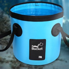 PVC Waterproof Water Bags Fish Fishing Folding Bucket Portable Bucket Water Container Storage Car