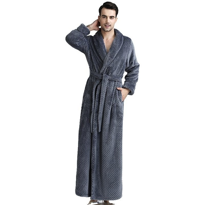 68e317f47b Thermal Long Flannel Bathrobe Women Men Thick Warm Winter Kimono Bath Robe  Bridesmaid Robes Dress