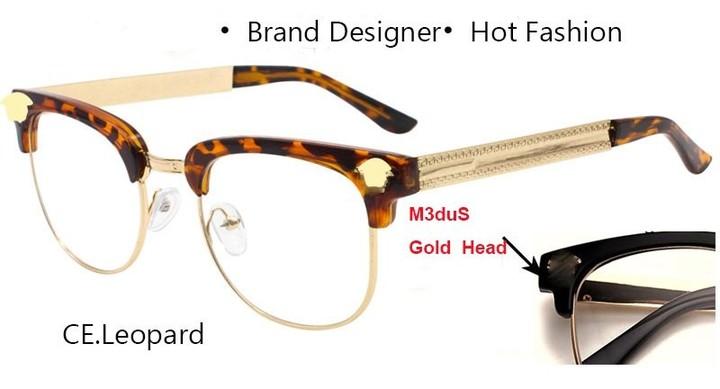 a4c2f4e800 Steampunk Glasses Gold Men Beauty Head Oversized Brand Designer Half Rime  Semi Prescription Sungl