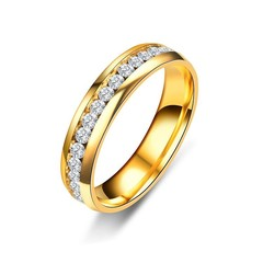 Stainless Steel Rings for Women Mens Gold Silver Black Color Anti-allergy Love Couple Wedding Eng