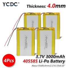 Pcs 405585 Lithium Polymer Rechargeable Battery 3.7V 85x55x4mm 3000mAh 3Ah Lipo Battery Replace F