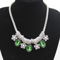 Fashion Europe New Personality Crystal Necklace Charm Women Birthday Prom  Party Fine Handmade Je