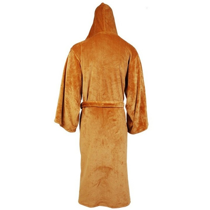 73e1c16699 Robe Male With Hooded Thick Star Wars Dressing Gown Jedi Empire Mens  Bathrobe Winter Long Robe