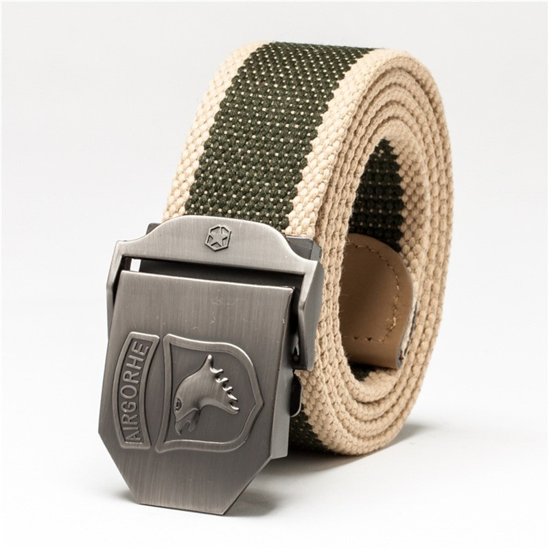 Belt Military Tactical Heavy Duty Belt 101 Airborne Canvas Waist Strap  Metal Buckle Jeans Belt Hu