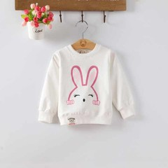 Baby Girls Boys Hoodies Long Sleeve Cartoon Cotton Solid Children Clothes Cute Fashion Hoodies